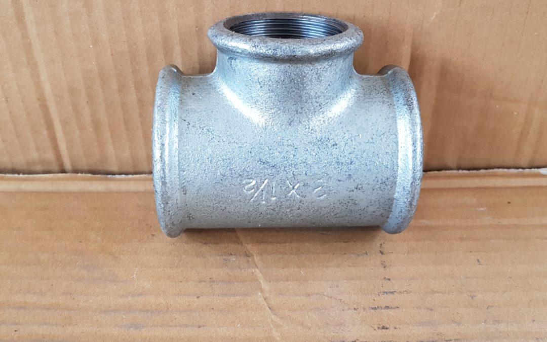 T a 90° in ferro 1.1/2x1x1.1/2