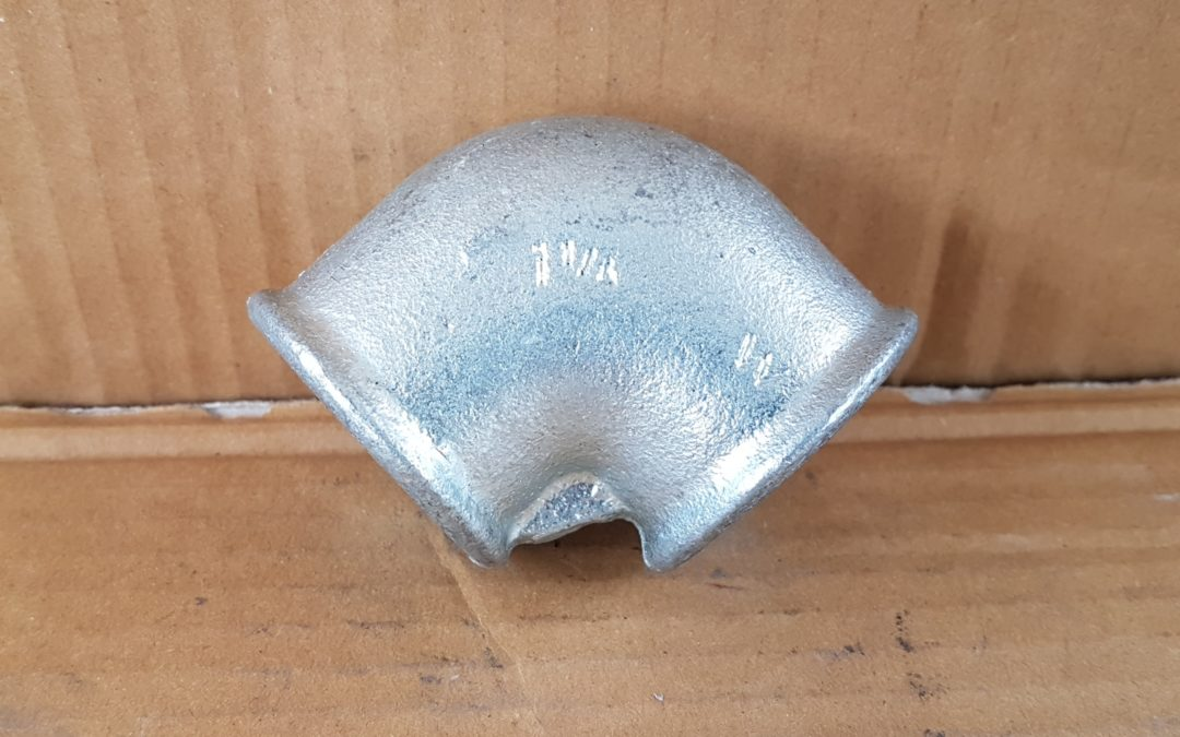 Gomito a 90° in ferro da 1.1/4 FF