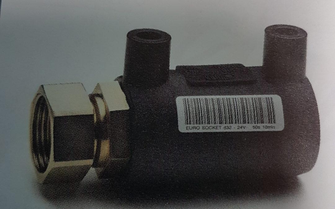 Manicotto elettrico di transizione in PE con inserto F D.32×1